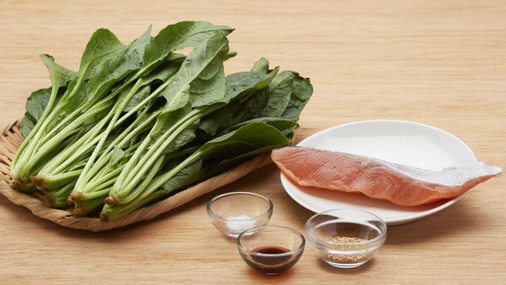 鲑鱼松和绿叶菜香松粉