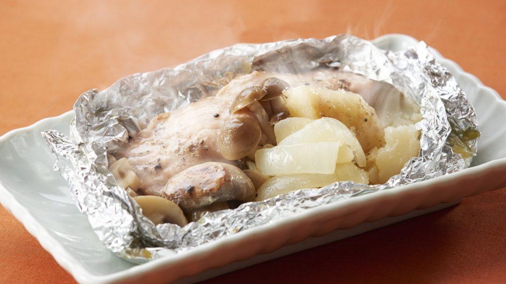 蘑菇黄油烤鲑鱼