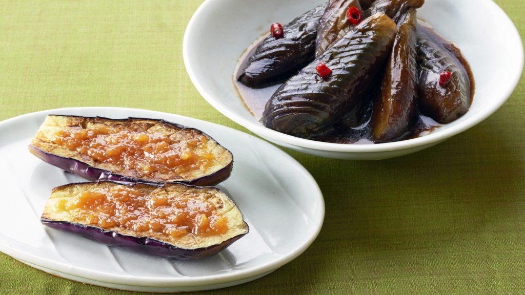 田乐味噌茄子和炖煮茄子