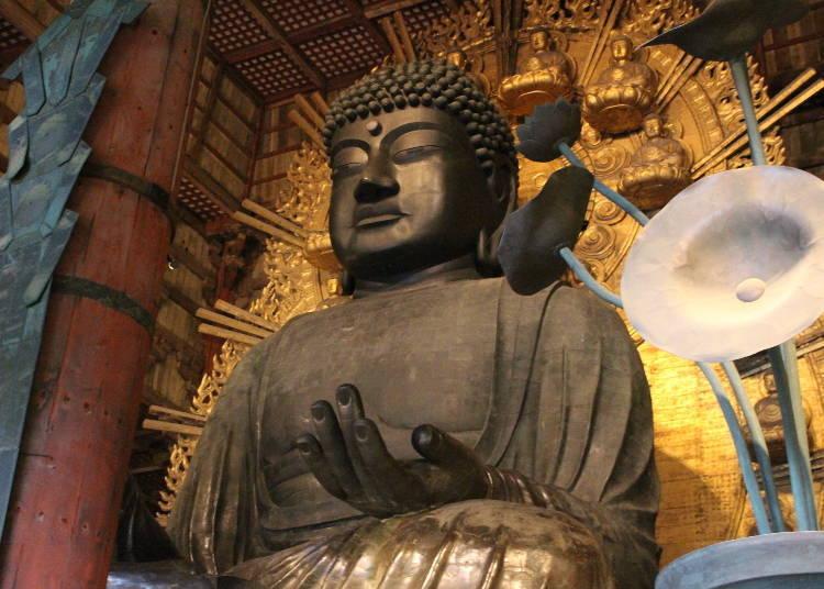 「东大寺」的大佛和其建筑物皆为世界最大规模