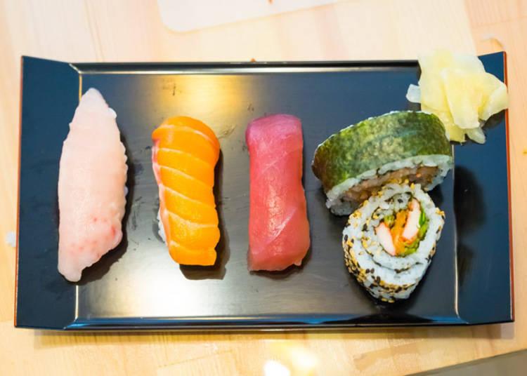 终于制作手握寿司