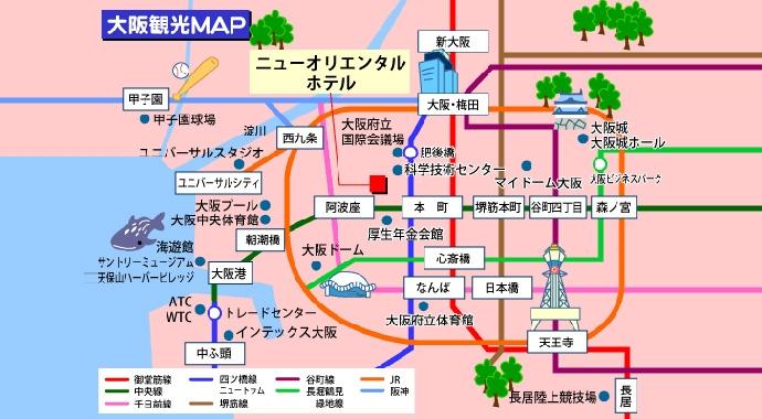 日本大阪城市分布