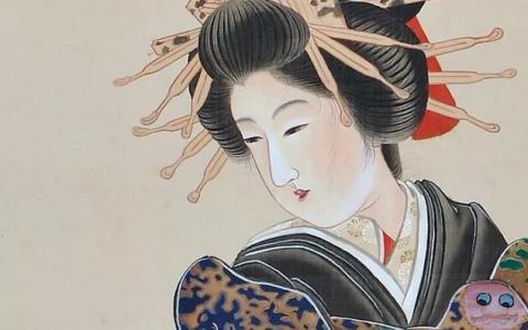日本艺伎满头簪钗的起源?非唐非宋,可追溯到受汉代发髻的影响
