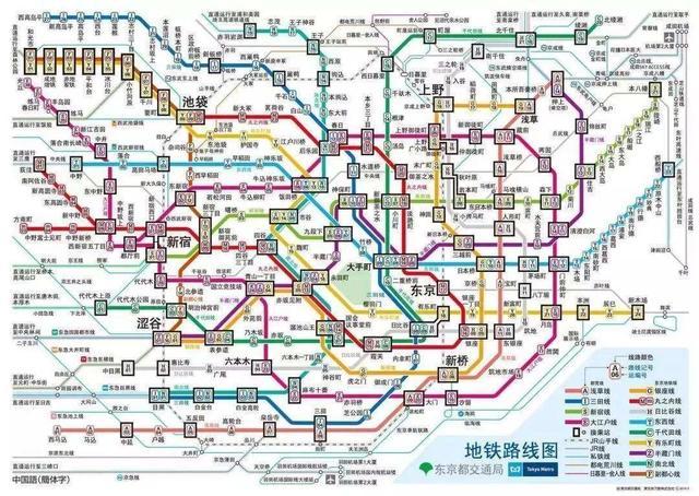 东京地铁换乘指示中橙色的线有着特殊意义,你知道么?