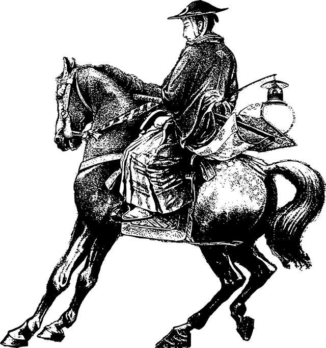 日本骑马武士的真实面貌:马穿铠甲,马鞍上挂黄豆袋和粮袋